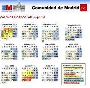 Calendario Escolar Madrid 2014 15 Primaria Calendario Escolar 2015 2016 Alcobendas Madrid A