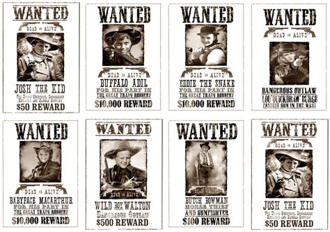 Great Fun Etc Wild West Party How To S With Free Printables Free Printable Wanted Poster