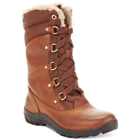 timberland snow boots timberland s mount snow boots in brown tobacco