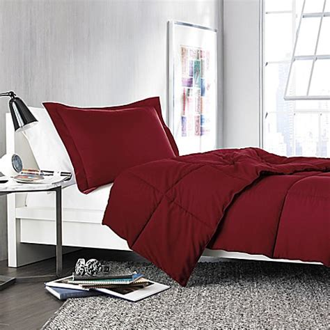 solid twin comforter buy solid twin twin xl comforter set in burgundy from bed