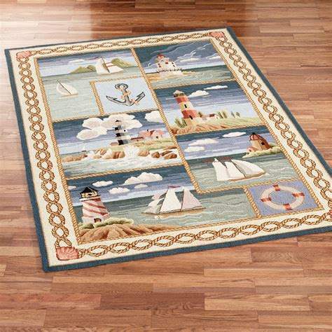 Nautical Themed Area Rugs Nautical Rugs Nautical Rug Nautical Decor Anchor Nursery Decor Nautical Nursery Decor