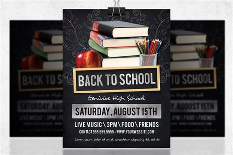 back to school flyer template 20 download in vector eps