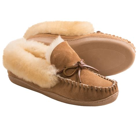 shearling slippers womens clarks faced shearling moc slippers for in