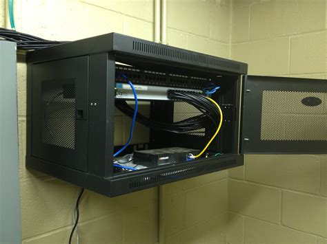 Networking Rack by Bridge Cable Installs New Network Cabling Backbone For