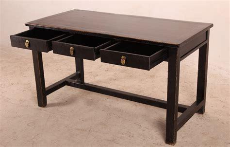 solid wood black desk with drawers desks