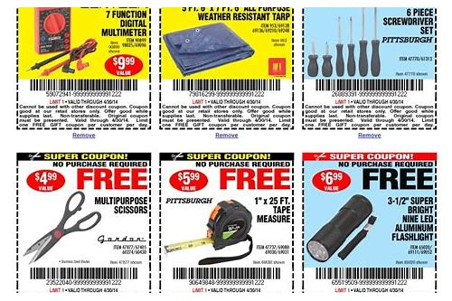 harbor freight coupon code free item