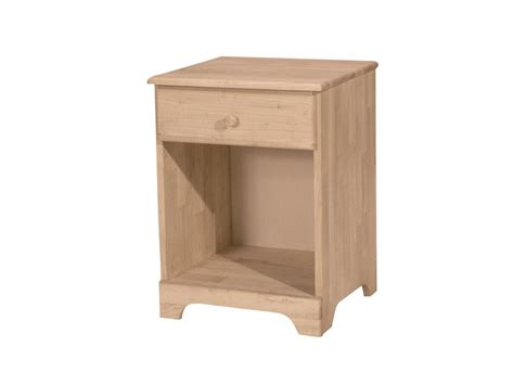 Unfinished Furniture Nightstand Whitewood Jamestown Nightstand 1 Drawer
