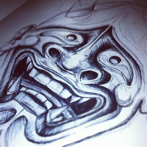 hannya mask tattoo sketch hannya sketch by tattoojamie on deviantart