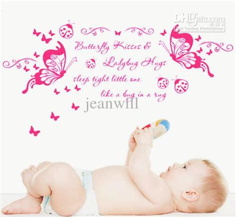 Baby Nursery Wall Stickers Quotes pictures of butterfly kisses wall quote nursery wall decal