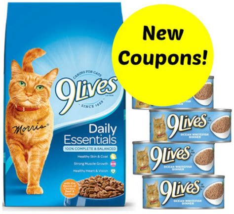 Printable 9 Lives Cat Food Coupons | new coupons for 9 lives cat food