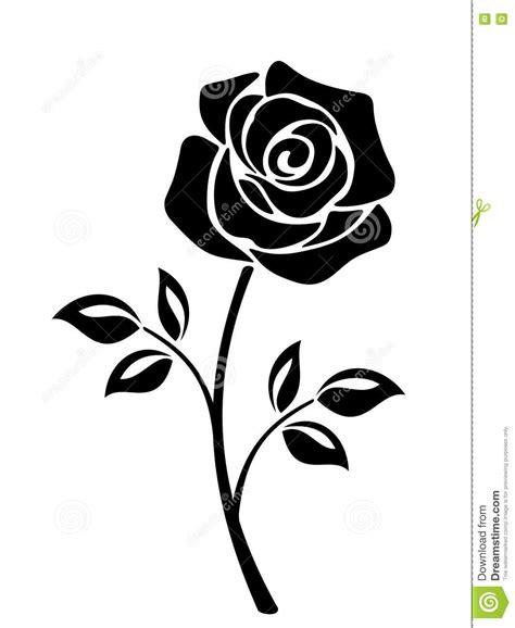 Clipart Fiore by Siluetta Nera Di Un Fiore Della Rosa Illustrazioni Di