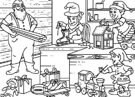 elves workshop coloring pages coloring pages christmas elf coloring pages free and