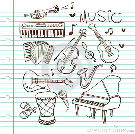 musical doodle free vector instruments doodle stock vector image 43099958