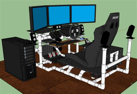 build your own gaming desk sim rig gaming desk my diy racing rig project