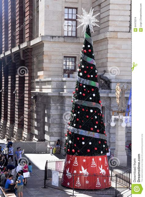christmas tree perth australia editorial stock image