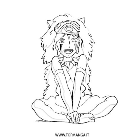Immagini Da Colorare Di Mononoke Topmanga Anime E Princess Mononoke Coloring Pages Free Coloring Sheets