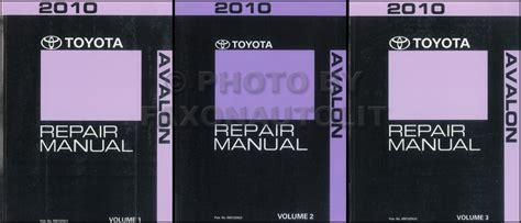 2010 toyota camry hybrid repair shop manual original 4 volume set 2010 toyota avalon repair shop manual 3 volume set original