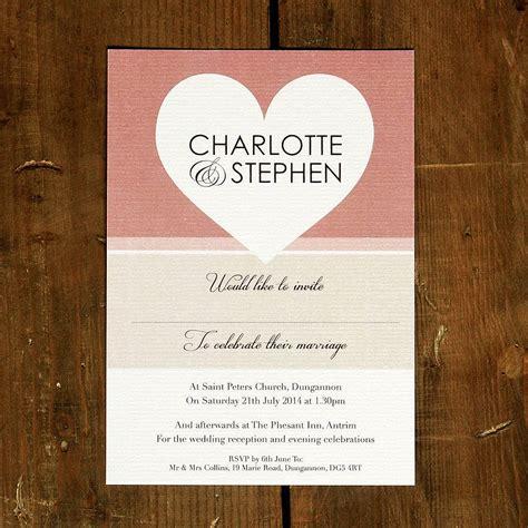 wedding invitations with hearts big wedding invitation stationery by feel