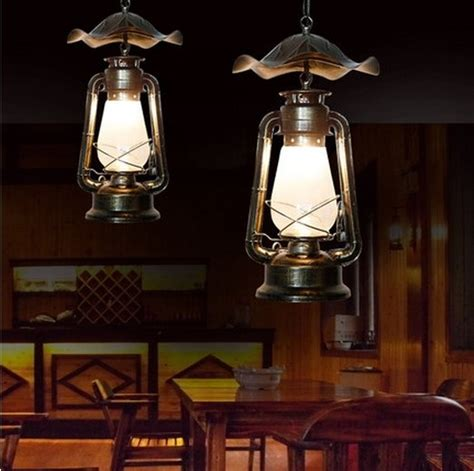 Indoor Lantern Light Fixtures Aliexpress Buy Creative Kerosene Lantern Droplight Led Vintage Pendant Light