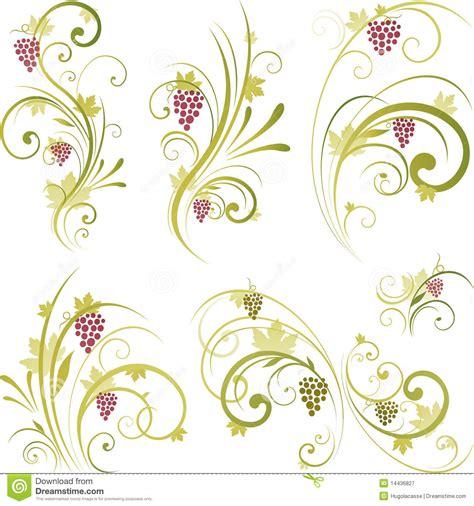 imagenes de adornos otoñales dise 241 o de los adornos del vino ilustraci 243 n del vector