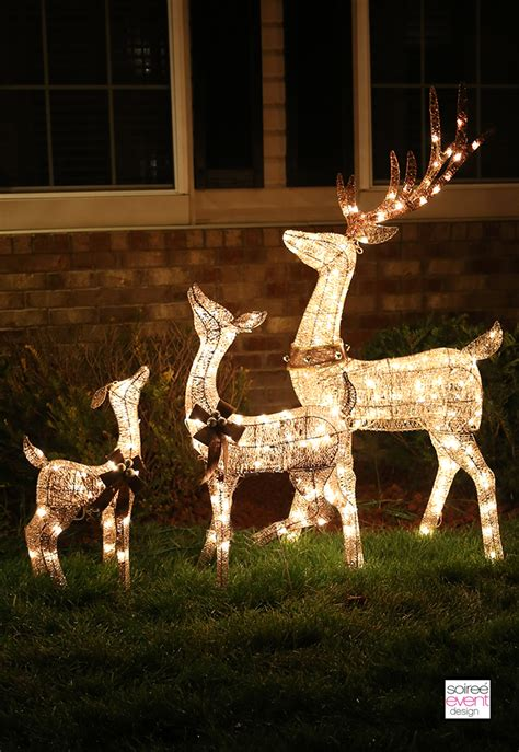 outdoor reindeer with lights decorate your home with outdoor decor from big
