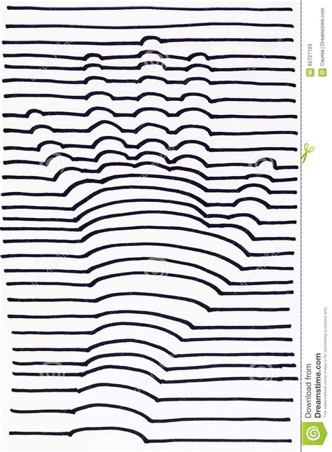 stripe pattern sketch 3d hand drawing striped stock illustration image 65727103