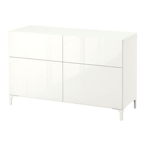 ikea besta white gloss best 197 storage combination w doors drawers white