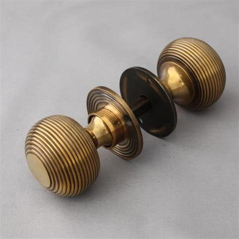 Period Door Knobs by Style Brass Beehive Door Knobs
