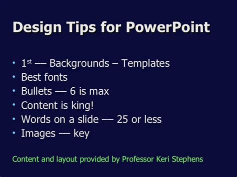 powerpoint template design tips ppt design tips