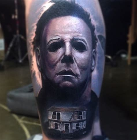 michael myers tattoo best in the business paul acker tattoos michael myers