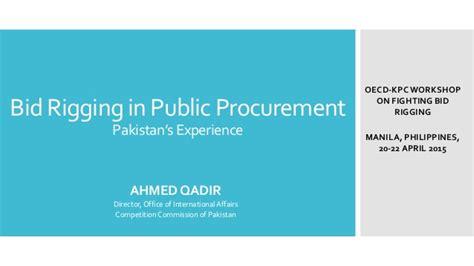 bid rigging revised version2 bid rigging in pakistan manila april 2015