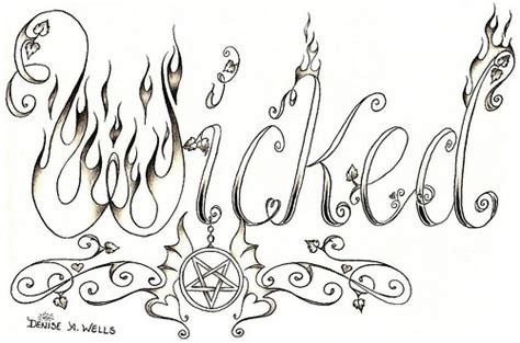 wicked tattoo designs design by a flickr photo