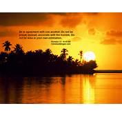 Free Christian Sunset Background Romans 12 16 Christianmingler