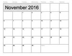 November 2016 printable calendar printable calendar templates