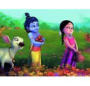 &187 Lord Krishna Cute Bal Radhe 3d HD Desktop Wallpaper
