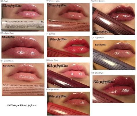 Berapa Lipgloss Nyx review swatches nyx mega shine lipgloss luuux nyx and swatch