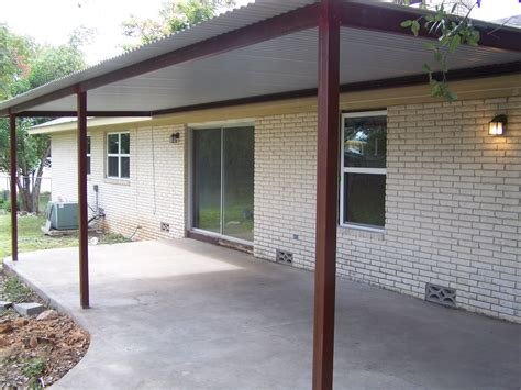 steel awnings custom steel porch steel awning cover new braunfels san