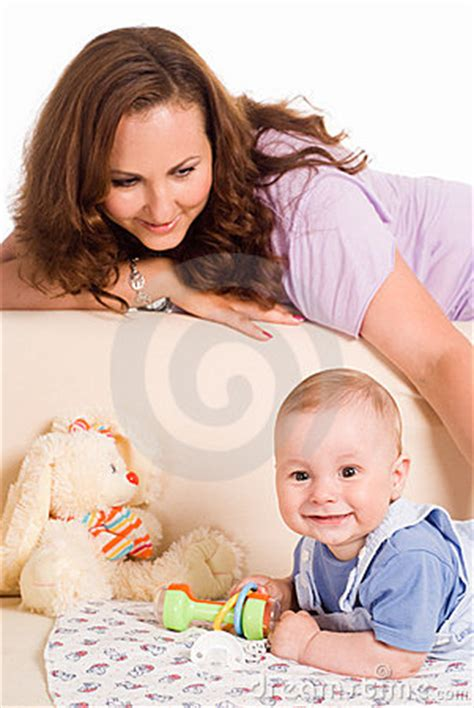 mom son couch mom and son on sofa stock photo image 20337520