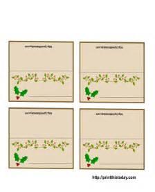 free printable christmas place cards