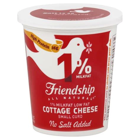 friendship cottage cheese coupons friendship cottage cheese low small curd 1 milkfat
