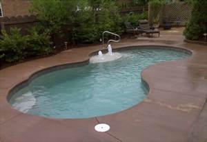 small in ground pools small fiberglass inground pool backyard design ideas