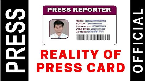 press indian reality of press card in indian media