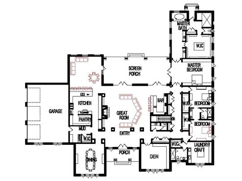 unique open floor plans threebedroom custom 4 bedroom 6000 sf house floor plan open
