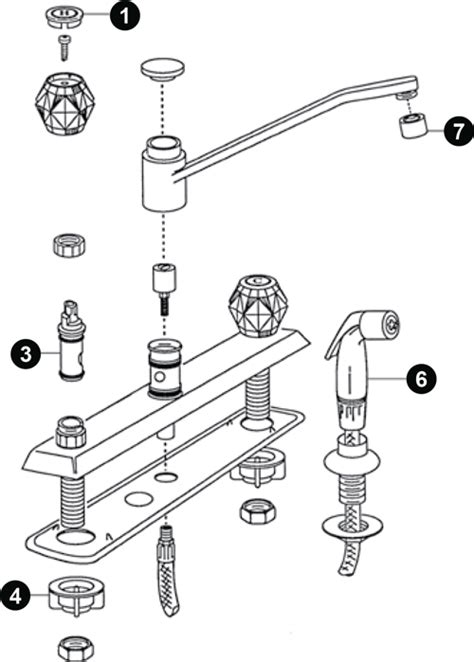 moen single handle kitchen faucet parts diagram moen single lever kitchen faucet repair parts kitchen