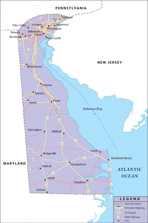 united states map delaware river map of delaware state map of usa