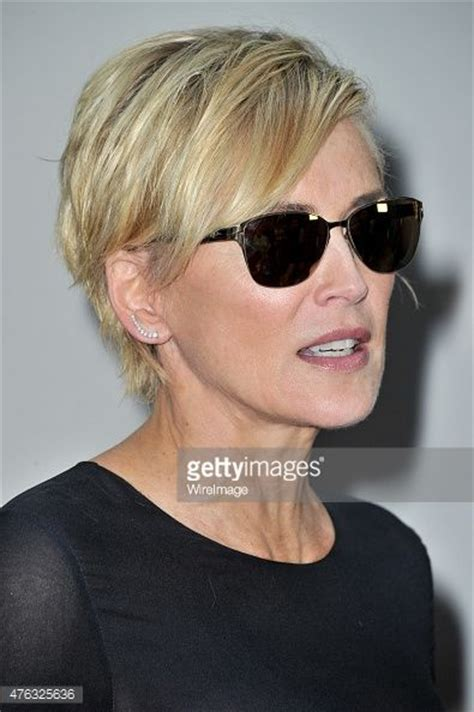 pics of sharon stones hair cut only print out front and back 241 best images about short hair cuts for round faces on