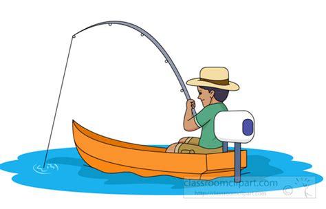 cartoon man in boat fishing fishing clipart clipart fisherman fishing in small motor