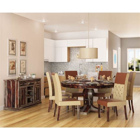 hosford handcrafted solid wood  piece  dining room set