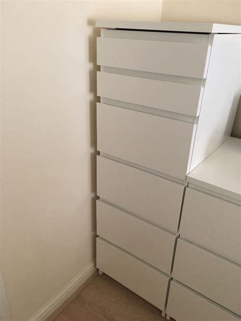 malm tall dresser ikea ikea malm chest of 6 drawers tall white with mirror glass