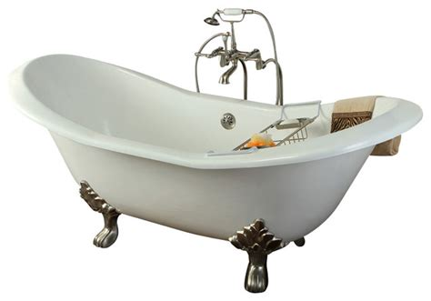 all in one bathtub 72 quot free standing cast iron slipper clawfoot tub all in